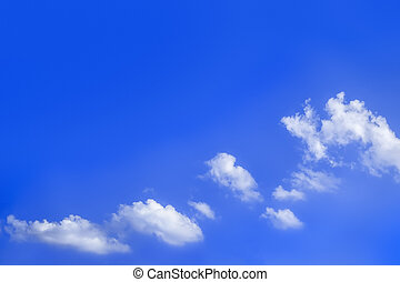 bright blue sky with clouds background