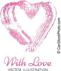 A bright pink imprint of the lipstick heard.