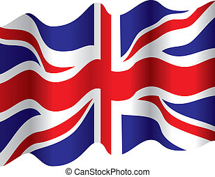 flowing flag - a british flowing flag