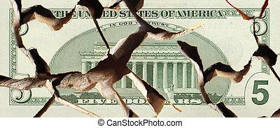 banknote - A broken banknote