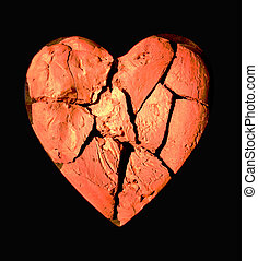 a broken heart of clay