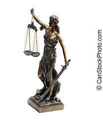 A bronze statue of Themis
