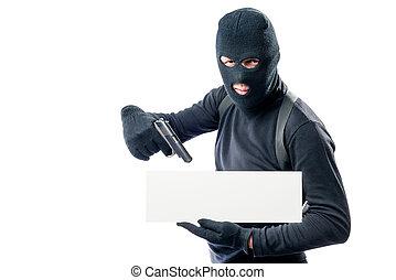 a, brottsling, med, a, affisch, och, a, gevär, för, din, inskrift