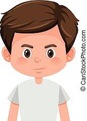 A brunette boy character