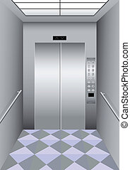 A building elevator - Illustration of a building elevator