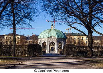 a building in Hofgarten munich