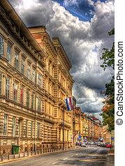 A building in the city center of Zagreb, Croatia
