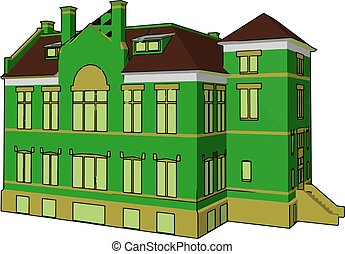 A building simple to complex vector or color illustration