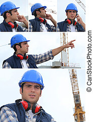 a building site manager working