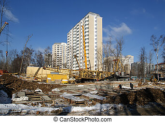 A building site, Moscow, Russia