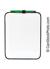 Empty white board for your message
