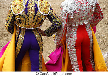 bullfighter - a bullfighter in a festival