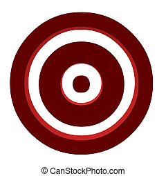 A Bullseye - A bullseye on a white background