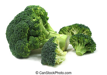 a bunch of broccoli on a bright background