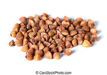 A bunch of buckwheat isolated on a white background.