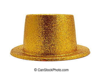 golden top hat - a bunch of festive golden balloons, one of...