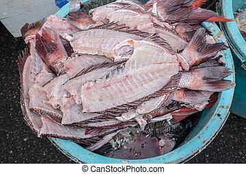 leftover fish parts