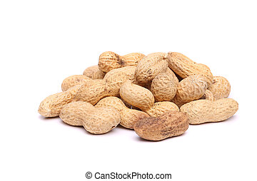 A bunch of peanuts in the center