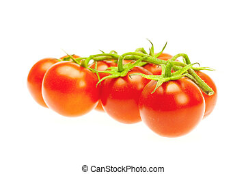 a bunch of tomato isolated on white