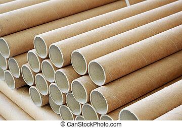 paper rolls - a bundle of paper rolls