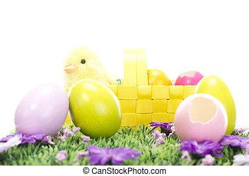 a, bunny easter, desejando, tu, tudo, um, páscoa feliz, holiday!