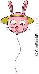 A bunny-shaped balloon