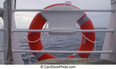 A buoy on a boat shot - A full shot of the buoy on a boat's...