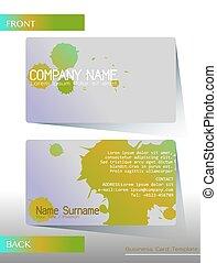 A business card