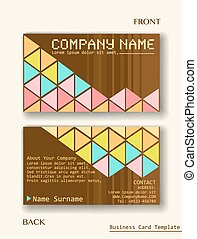 A business card layout