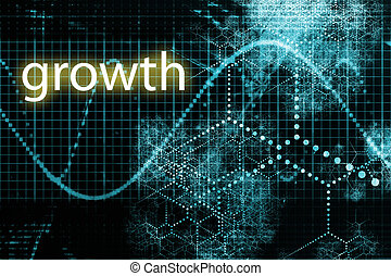 Growth - A Business Growth Abstract Futuristic Tech...