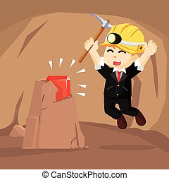 A business man find a ruby in cave