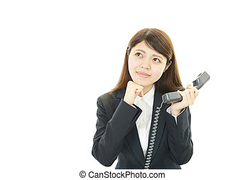 A Business woman with phone