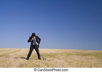 a businessman taking a ca