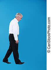 A businessman wandering.
