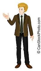 A Businessman wearing a suit