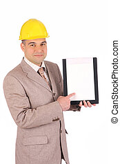 A businessman with documents