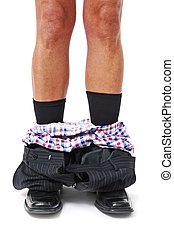 businessman with his pants down - a businessman with his ...