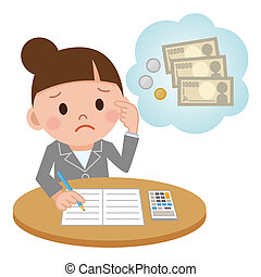 A businesswoman - Illustration Featuring a Female Accountant...