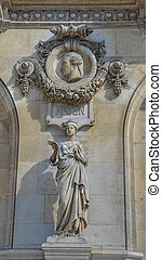 Palais Garnier - A bust of composer Haydn is memorialized on...