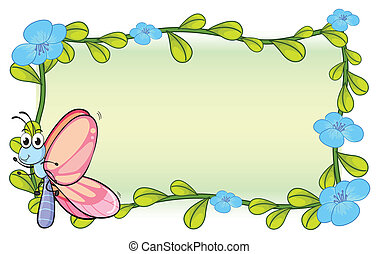 A butterfly and a flower plant