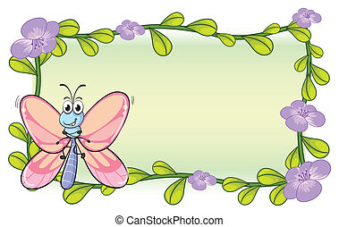 A butterfly and flowers