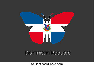 Butterfly with the flag of Dominican Republic - A Butterfly ...