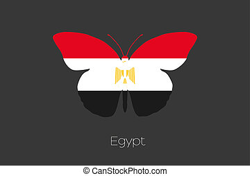 Butterfly with the flag of Egypt