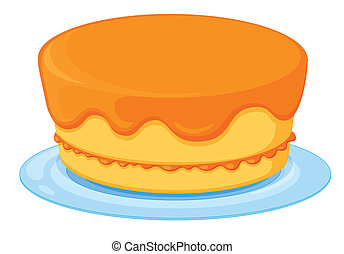 a cake - Illustration of an isolated a cake on a white...