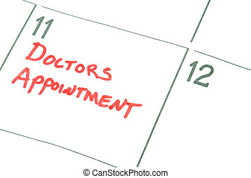 Doctors Appointment - A calendar reminder for a Doctors...