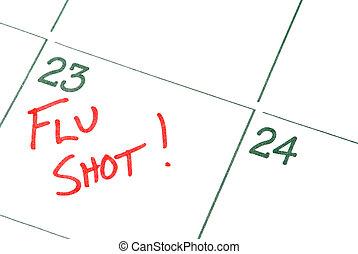 Flu Shot - A calendar reminder for a Flu Shot
