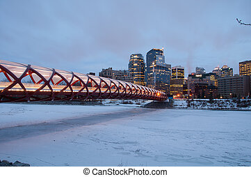 Calgary pedestrian bridge