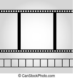 Camera Film Illustration on Grey Background
