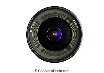 A camera Lens isolated on white