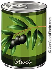 A Can of Black Olive